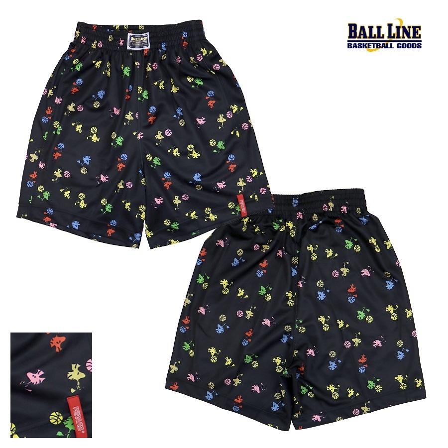 オンザコートボールラインバスケットPEANUTS(スヌーピー)×BALLLINE昇華バギーパンツPNUP9545BLK