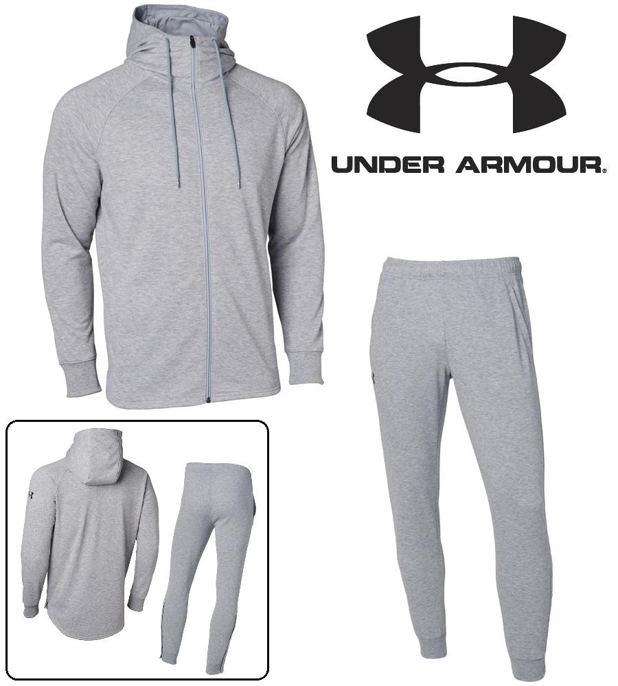 アンダーアーマー UAベースラインスウェットフーディー/スウェットパンツ上下セット(バスケットボール/パーカー/ロングパンツ/MEN) 数量限定商品 1327503 1327504(025)