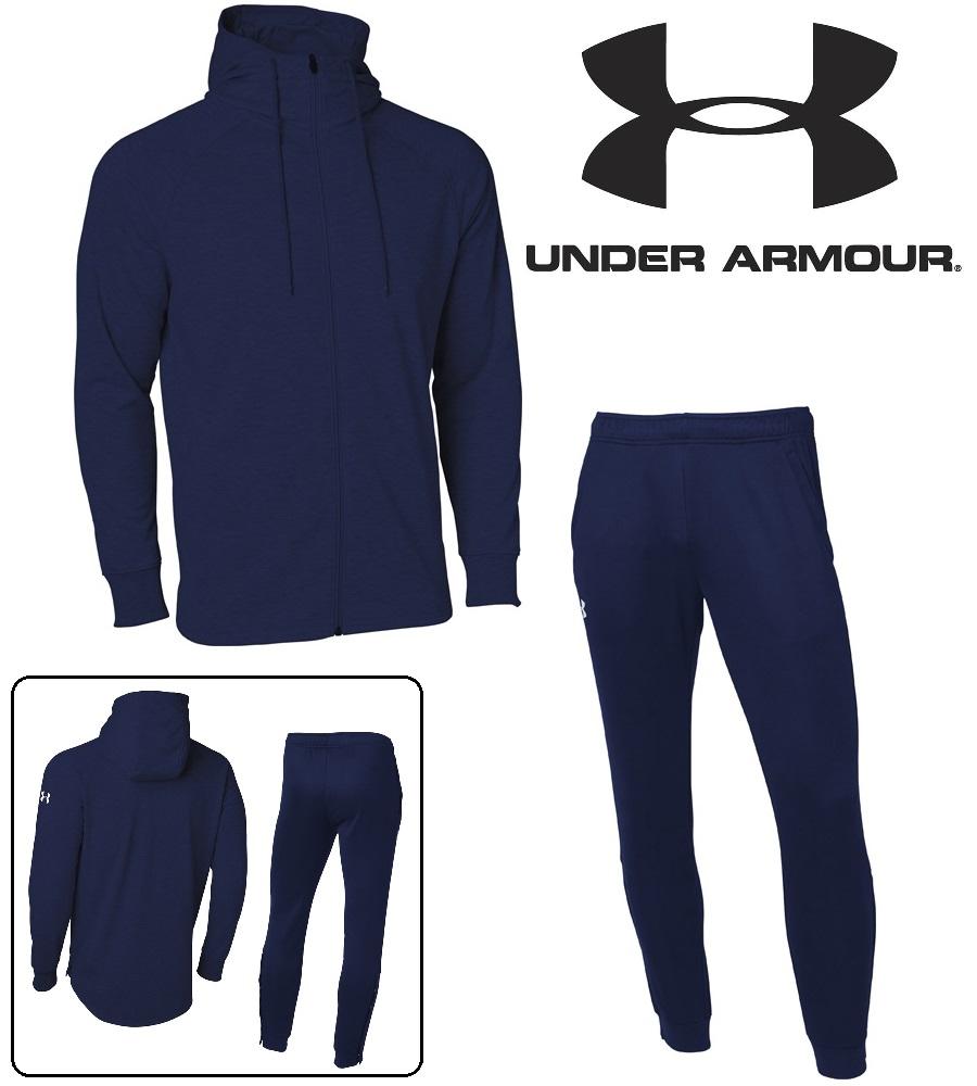 アンダーアーマー UAベースラインスウェットフーディー/スウェットパンツ上下セット(バスケットボール/パーカー/ロングパンツ/MEN) 数量限定商品 1327503 1327504(410)