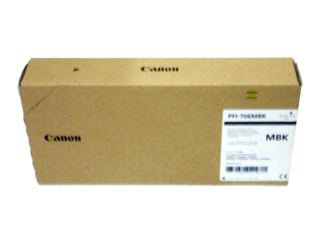 キャノン PFI706MBKマットブラック 純正品■外箱未開封未使用■推奨使用期限2018年4月■外箱若干汚れあり【中古】