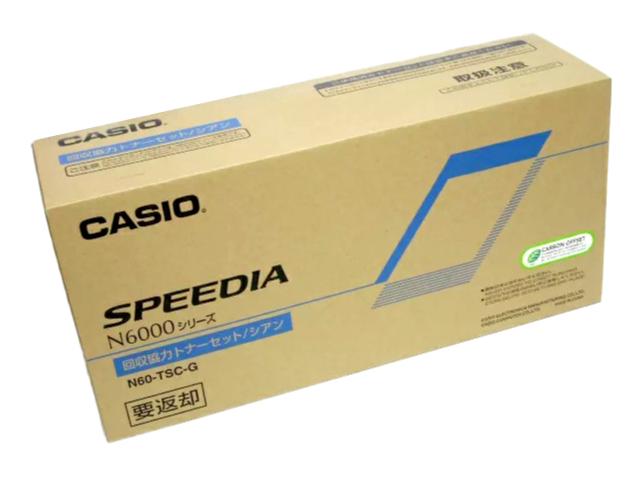 カシオN60-TSC-G シアン トナーカートリッジ 純正品