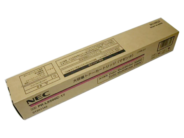 NEC PR L9300C-18トナー シアン 純正品■外箱きれいですがマジック書き込みあり■2016年1月製造【中古】
