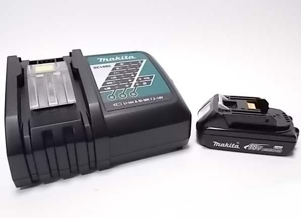 マキタ 純正 BL1820 バッテリー 18V + 急速充電器 DC18RC 【2.0Ah】リチウムイオンバッテリー/蓄電池/リチウムイオン電池