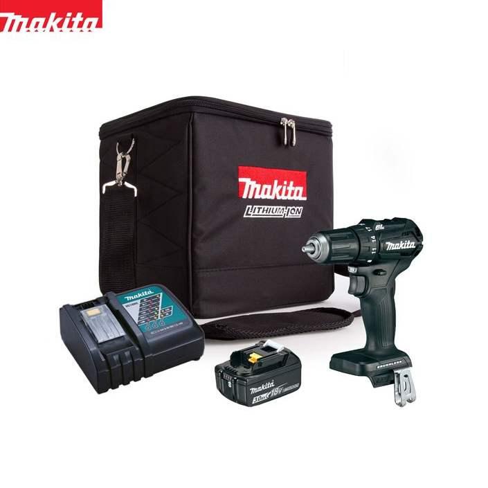 マキタ 18V 充電式 ブラシレス ドリルドライバー 4点セット/コードレス/DF483DZ 同等品/電動ドリル/インパクト/DC18RC/BL1830B/CT211XT