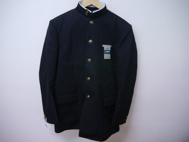 7000・ウール混男子標準型学生服詰襟190A 学ラン上着 黒【新品】