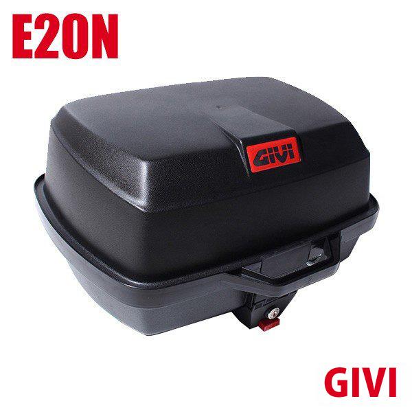 送料無料 GIVI ジビ トップケース モノロックケース リアボックス E20N 容量 39L ハードケース 未塗装ブラック 高品質 バイク用 GIVIケース テールボックス