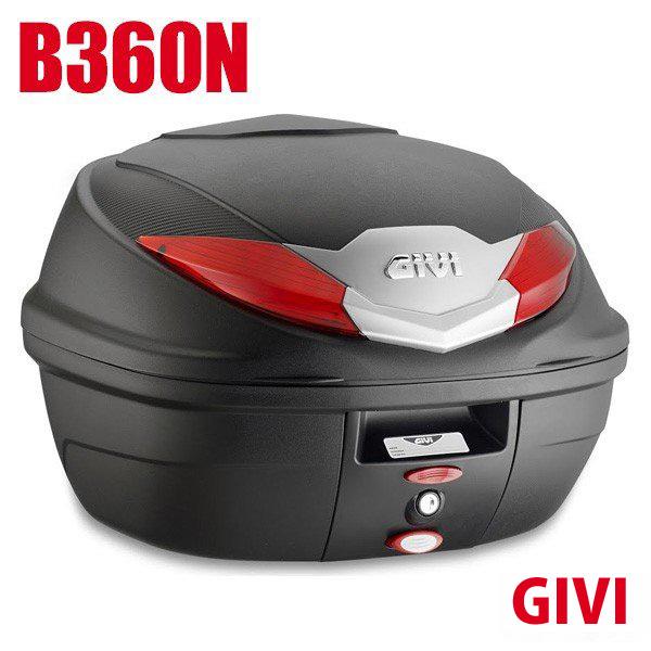 送料無料 GIVI ジビ トップケースモノロックケース リアボックス B360N 36L フルフェイス収納可 未塗装ブラック 高品質 バイク用 テールボックス GIVIケース カスタム パーツ カスタムパーツ 収納 ボックス 黒 大容量