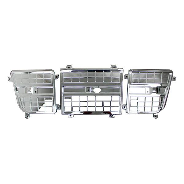 送料無料 いすゞ ギガ H21年5月~H27年11月 メッキ グリル インナー リッド グリル ガーニッシュ セット トラック 用品 外装 パーツ