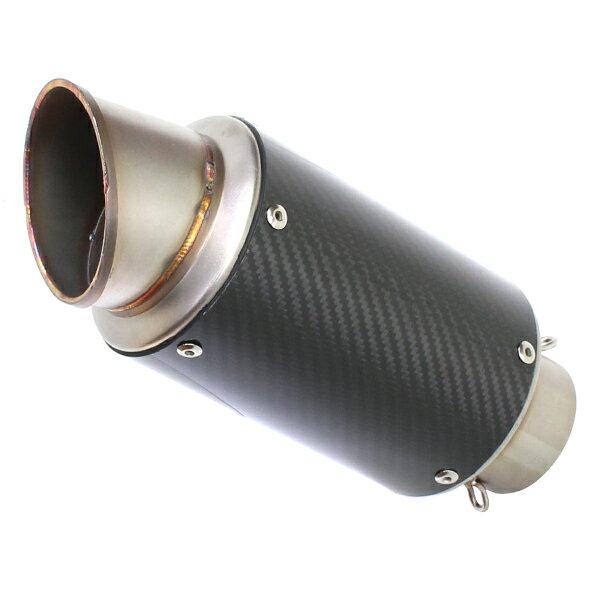 送料無料 60.5mm GPショートサイレンサー スリップオンマフラー カーボン YZF R-25 R-3 R25 R3 CBR250R CBR400R 50.8mm 35mm 変換アダプター付 汎用 60.5π