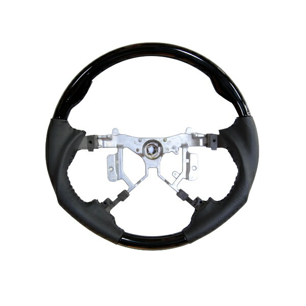 送料無料 エスティマ 50系 4本スポーク ステアリング スポーツタイプ ハンドル ガングリップ ブラック レザー 純正交換式 ACR50 ACR55 GSR50 GSR55 カスタムパーツ