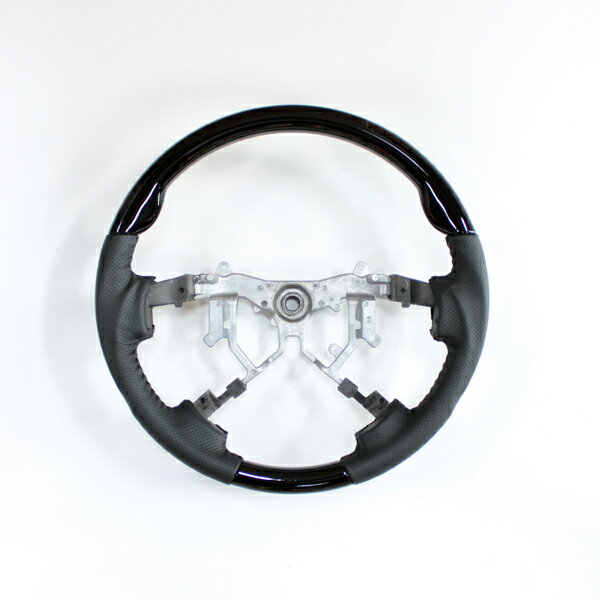 送料無料 ハイエース 200系 4型 ステアリング ガングリップ スポーツタイプ レザー ハンドル カスタムパーツ 純正エアバック対応