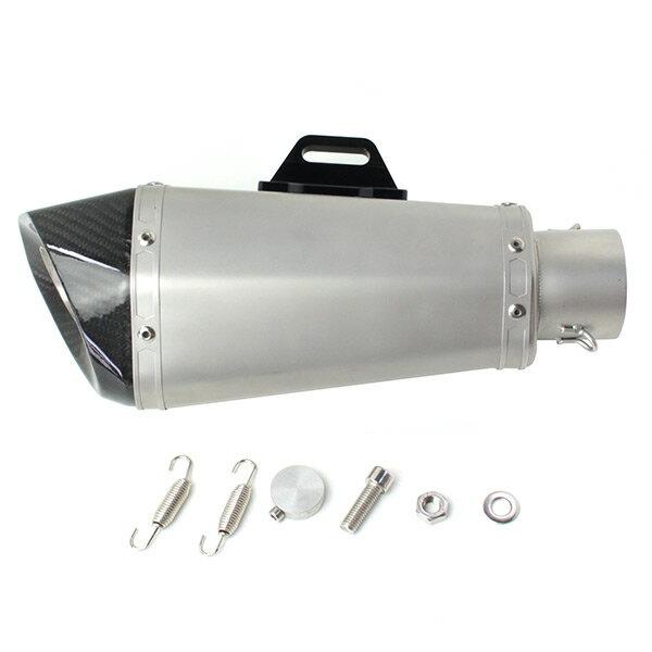 送料無料 マフラー サイレンサー 60.5mm カーボンエンド ヘキサゴンサイレンサー 60.5φ 汎用 社外品 ステンレス製 カスタムパーツ 60.5パイ