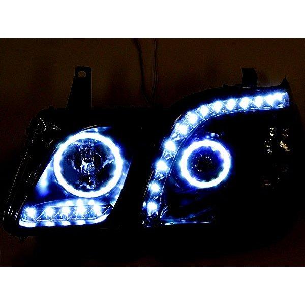계급 성 シグナス 헤드라이트 LED 오징어 링 아우디 바람 LED 라인 이너 블랙 랜드 크루저 LEXUS LX470 헤드라이트 단위 18 연 LED 줄 LED 오징어 링 헤드 램프 사용자 부품