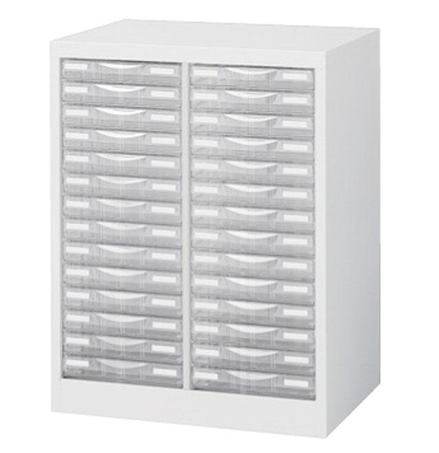 生興 整理ケース(プラスチック引出し) A4判床置型 ホワイト H700 デスクサイド床置型 2列浅型14段 A4W-P214S【新品商品】
