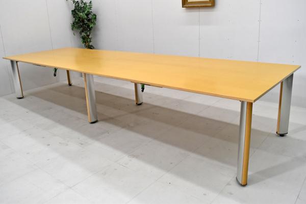 コクヨ WT-150シリーズ 木製大型会議テーブル W4000 2016122904【中古オフィス家具】【中古】