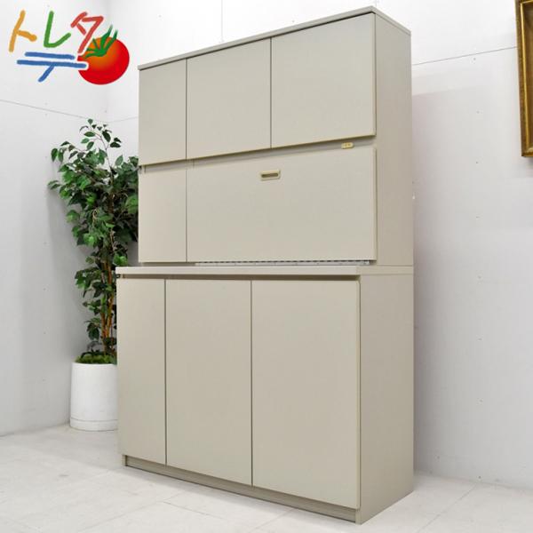 コクヨ 木製食器収納ユニット グレー  W1200 2017042501【中古オフィス家具】【中古】