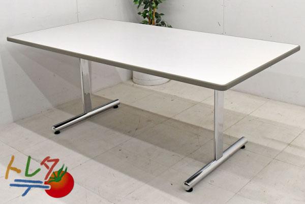 オカムラ ミーティングテーブル W1800 2017082107【中古オフィス家具】【中古】