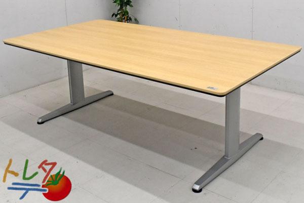 オカムラ リフティオシリーズ 会議テーブル W2100 2017110803【中古オフィス家具】【中古】