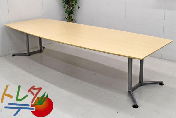 オカムラ ラティオ ミーティングテーブル W3200 2017120907【中古オフィス家具】【中古】