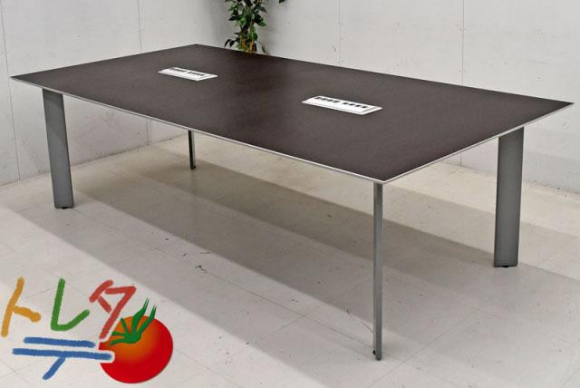 ウチダ ミーティングテーブル AJ-7000シリーズ 配線機能付 W2400 2018041801【中古オフィス家具】【中古】