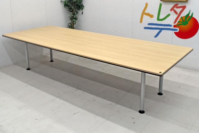 在庫限り中古品 オカムラ 会議テーブル 大型会議テーブル RATIO 正規逆輸入品 IIシリーズ 即納 W3200 大型ミーティングテーブル 2018090802 中古オフィス家具 中古
