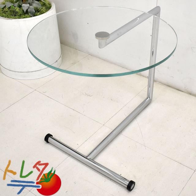 COR ARTEシリーズ ガラスサイドテーブル φ500 2018101804【中古オフィス家具】【中古】