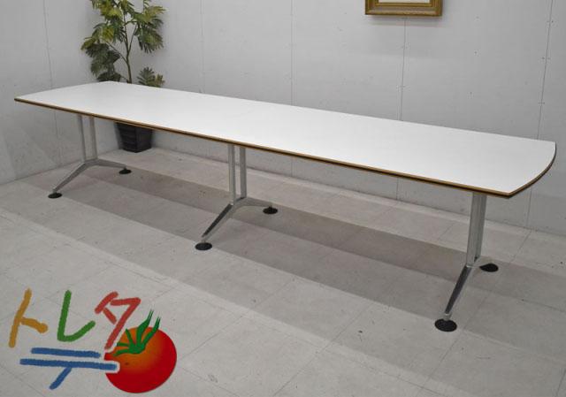 ウィルクハーン ロゴン 大型会議テーブル W3600 2020012206【中古オフィス家具】【中古】