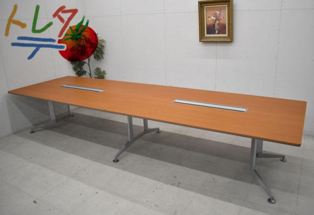 ミーティングテーブル 2020060407【中古オフィス家具】【中古】 W4000 配線ダクト付 WT-300シリーズ コクヨ