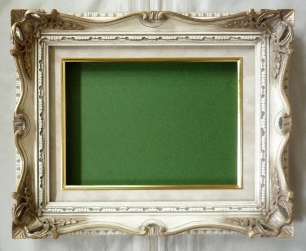 油絵 油彩額縁 7802 F30(P30) アンティークアイボリー (アートフレーム)-新品