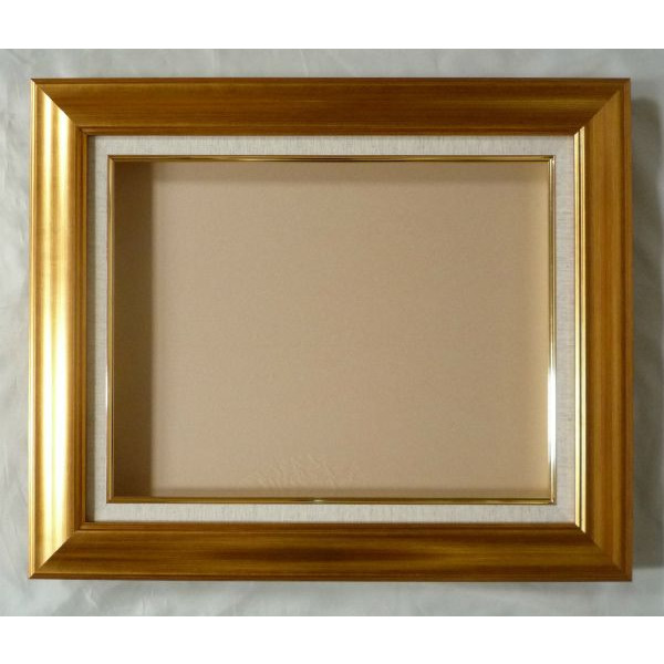 受注生産品 油彩 人気上昇中 油絵用額縁 正方形の額縁 市販 マクーテ -8120 金 -新品 S6号 ゴールド