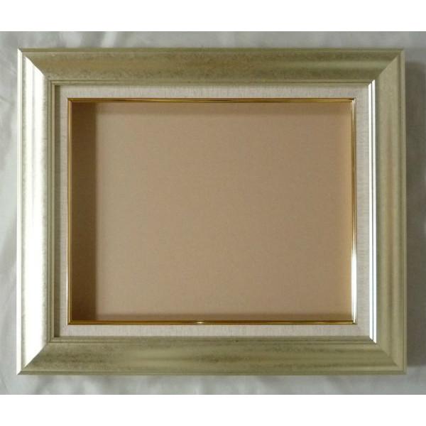 油彩額 油絵用額縁 マクーテ -8120 F30 P30 M30 銀 シルバー 枠と泥足とケース(仮縁仕上げ) -新品