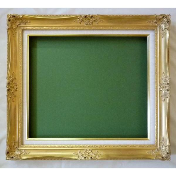 油彩額 油絵用額縁 ルイ14世 F6 金 -新品