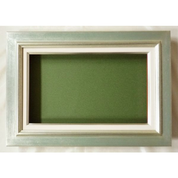 油彩額 油絵用額縁 レインボー F8 (P8,M8) 銀 -新品