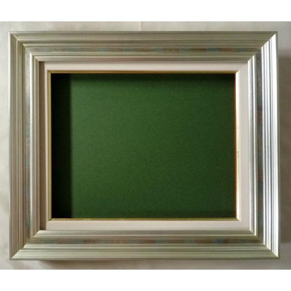 油彩額 油絵用額縁 回廊 F12 (P12,M12) 銀 -新品