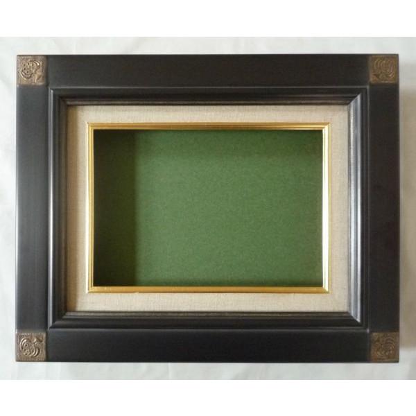 油彩額 油絵用額縁 奴型 F20 (P20,M20) 鉄黒 -新品