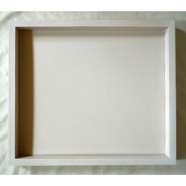 激安通販専門店 上等 木製フレーム 油彩額 油絵用額縁 角箱 F10 乳白 M10 P10 ホワイト -新品