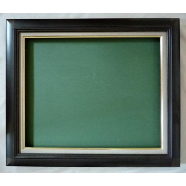油彩額 油絵用額縁 月山 F30 (P30,M30) 鉄黒 -新品