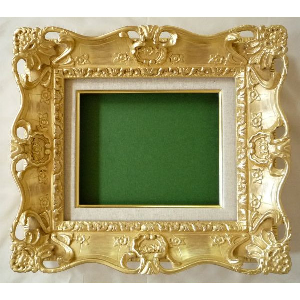 油彩額 油絵用額縁 7805 F12 ゴールド 金 (アートフレーム)-新品