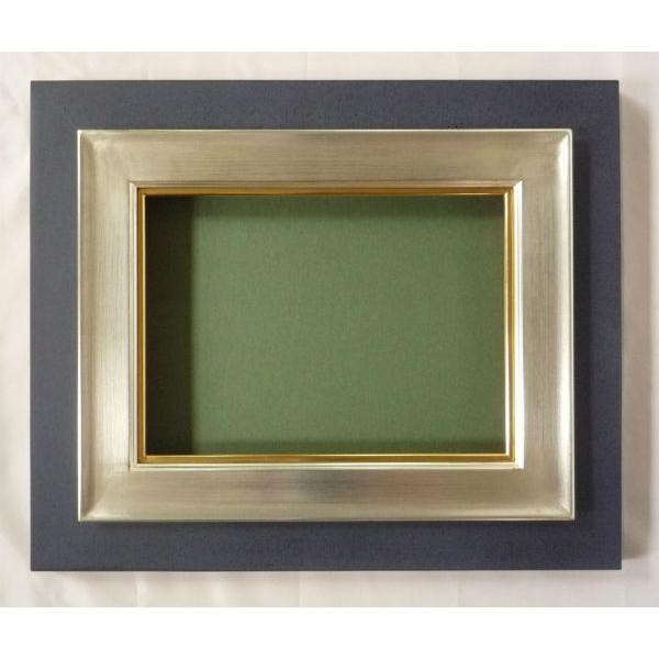 油彩額 油絵用額縁 シリウス F50 銀 -新品