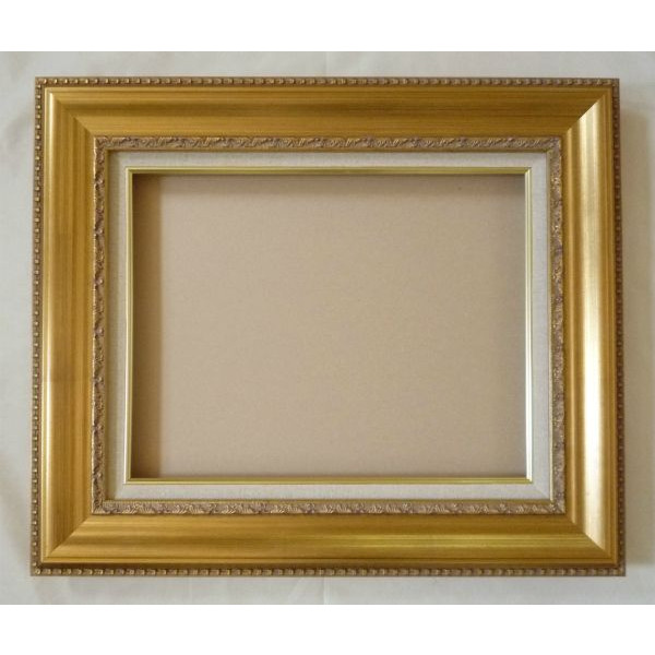 油彩額 油絵用額縁 ティンベル F40 P40 M40 金 ゴールド 枠と泥足とケース(仮縁仕上げ) -新品