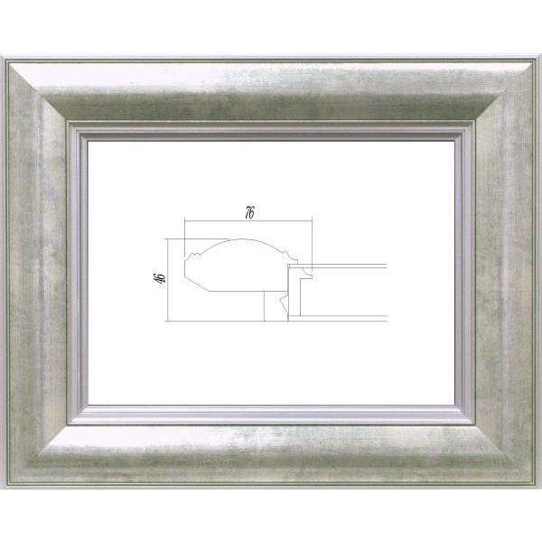 油彩額 油絵用額縁 3474 F20 (P20,M20) シルバー 銀 -新品