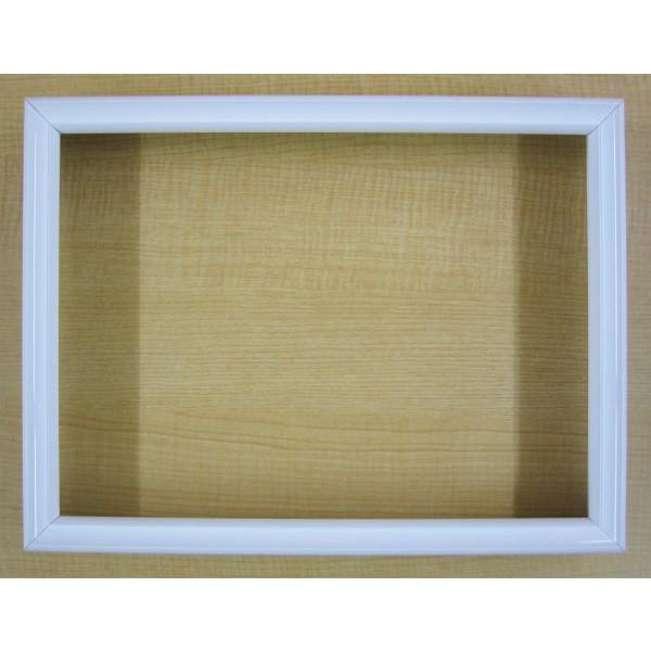 油絵用 アルミ製額縁 仮縁 DX F100 (P100,M100) ホワイト 白 -新品