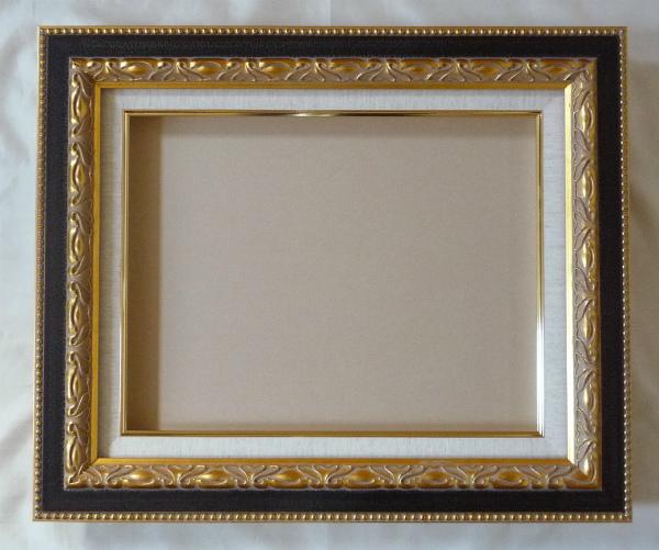 油彩額 油絵用額縁 ガイマス60 F120 P120 M120 金 ゴールド 枠と泥足とケース(仮縁仕上げ) -新品
