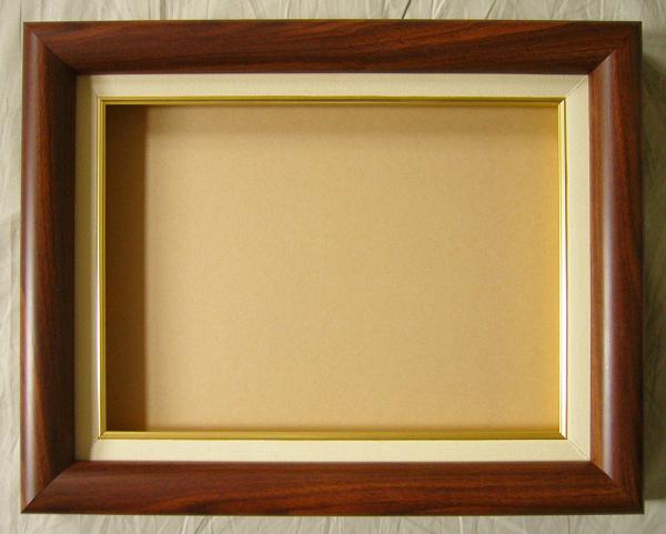 油彩額 油絵用額縁 K-1 F120 P120 M120 ブラウン 枠と泥足(仮縁仕上げ) -新品