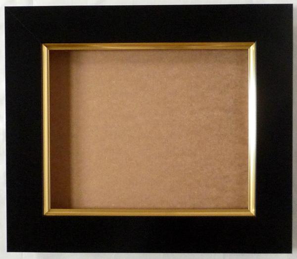 油彩額 油絵用額縁 3450 WF4 ブラック 黒 -新品