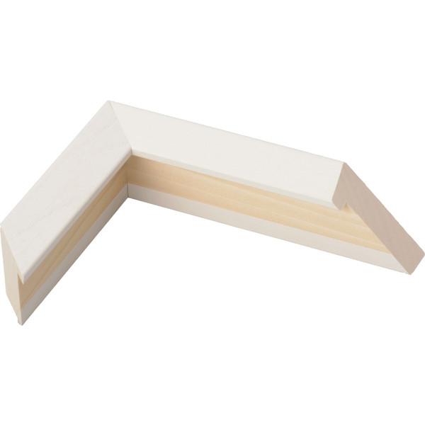 油絵用 木製額縁 仮縁 3485 P100 M100 ホワイト 白-新品