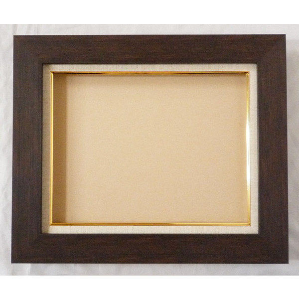 油彩額 油絵用額縁 プラスム (8151) F50 P50 M50 ブラウン 枠と泥足とケース(仮縁仕上げ) -新品