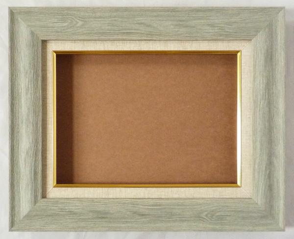 油絵用 額縁 (アート フレーム) アビエス F12 (P12.M12) グレー DS -新品