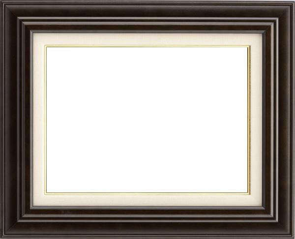 油彩額 油絵用額縁 7741 P10 コクタン色 -新品