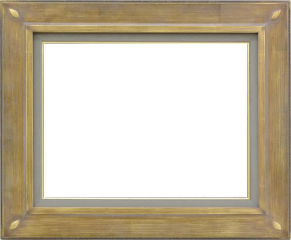 油彩額 油絵用額縁 7101 F15 金 ゴールド -新品